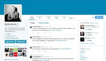 Twitter – Annie Lennox