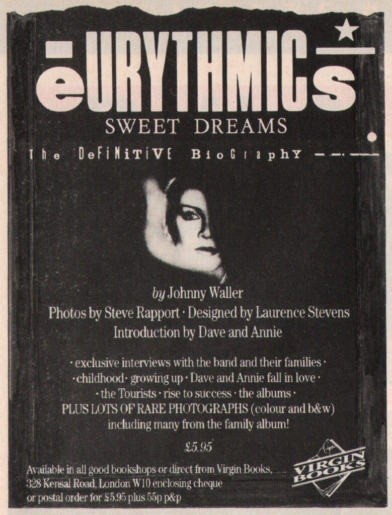 Eurythmics - Advert - Books - Sweet Dreams Biography
